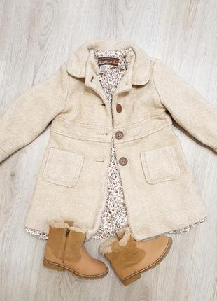 Пальто ботинки zara