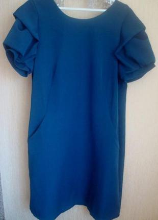 Новое красивое темно-бирюзовое платье, размер xxl на 48-50-52