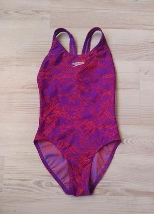 Сдельный спортивный разноцветный купальник speedo