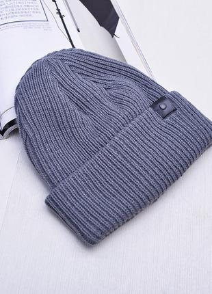 Теплая вязаная шапка 13144н