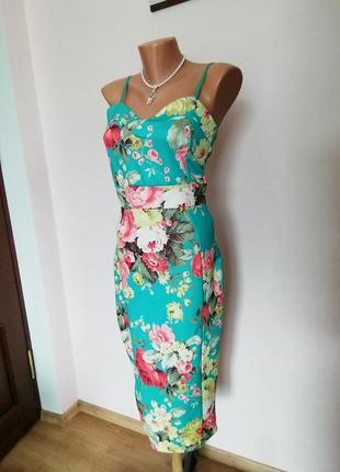 Шикарное яркое платье/m/brend natalia