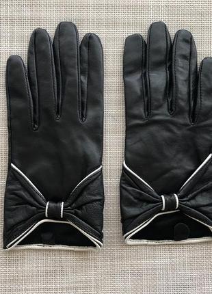 Кожаные перчатки asos 🖤