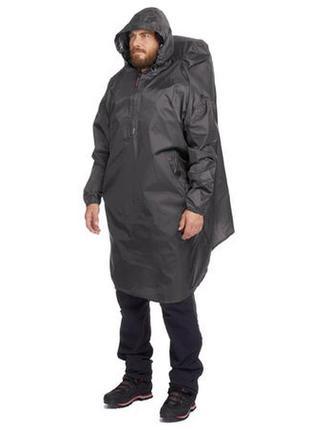 Дождевик-пончо arpenaz для горного трекинга, 40 л, размер s / m - темно-серый
