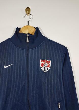 Nike usa soccer кофта олимпийка спортивная на змейке m мужская
