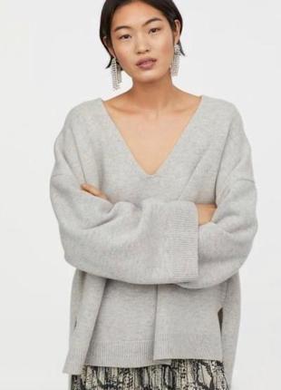 Светр свитер h&m сірий серый оверсайз джемпер
