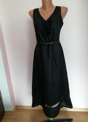 Классное миди платье из нитей крапивы m/brend h₴m