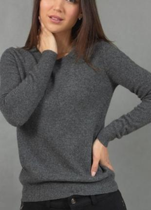 Теплый серый свитер размер м-л pure cashemere 100% кашемир