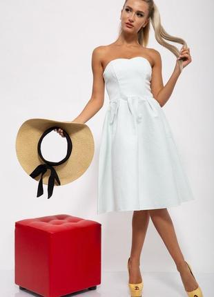 Платье, цвет бело-зелёный