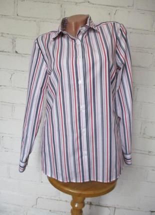 Рубашка фирменная хлопковая в полоску/s-m