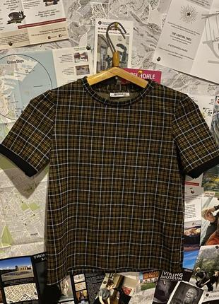 Клетчатая футболка zara