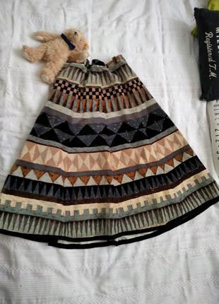 Шикарная винтажная юбка на осень.