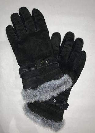 Англия! женские кожаные фирменные перчатки на подкладке john lewis.