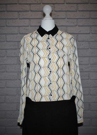 Блуза принт геометрия zara