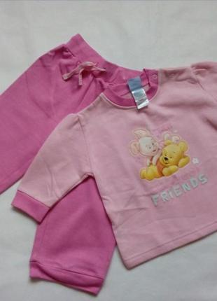 Детская пижама для девочки на флисе disney р.74/80