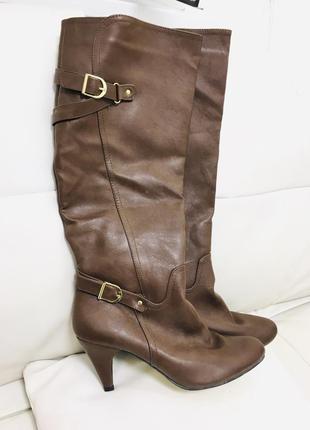 Новые шикарные шоколадные высокие сапоги ботфорты от joe browns 41-42 размер