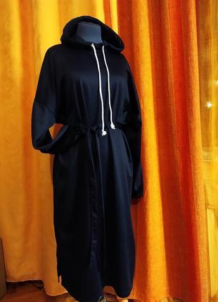 Шикарное платье-худи