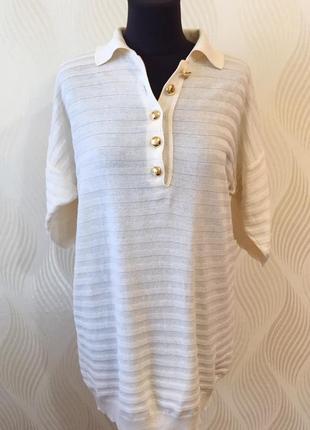 Винтажный джемпер поло блуза valentino