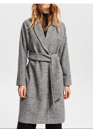 Пальто халат с шерстью от reserved