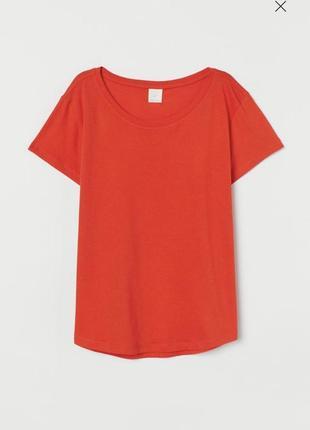 Красная хлопковая базовая футболка