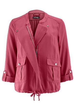Оригинальный розовый жакет куртка ветровка tchibo 100% лиоцелл eur 40/42