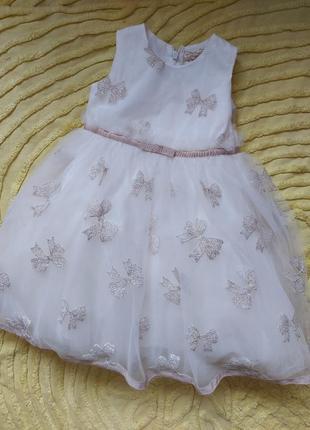 Роскошное   платье monnalisa 2-3 года  с фатином , люксовый бренд