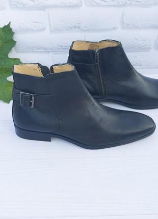 🔷️ новые кожаные демисезонные ботинки silver street р 41,5-42