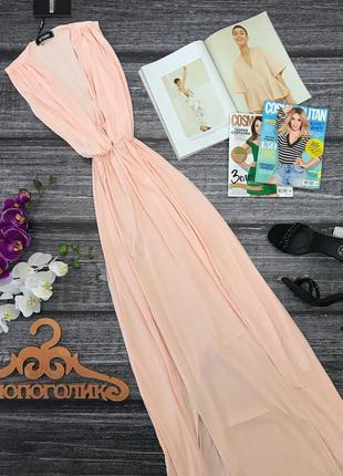 Утонченное платье-макси missguided с глубоким декольте      dr2130