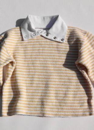 Тёплый свитерок с воротником, гольф. 92 размер.