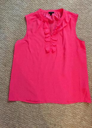 100% шелковая блуза ярко-малинового цвета
