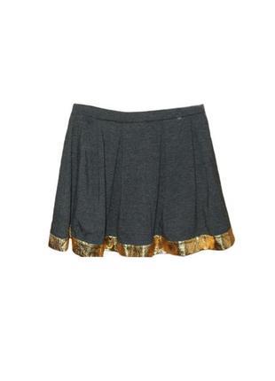 Юбка солнце клеш asos , юбка на резинке с золотистой окантовкой размер 6