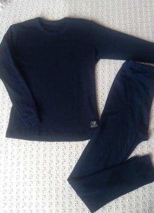 Комплект термобілизни з мериносової шерсті реглан штани термо леггинсы термобелье