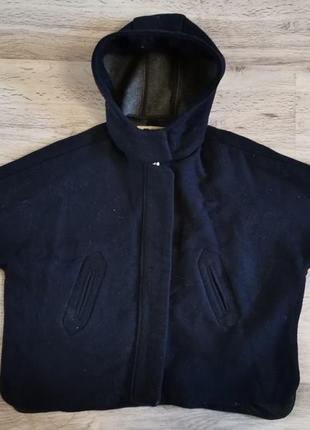 Стильное пальто пончо zara girls