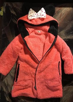 Детский халат на девочку микки мауса