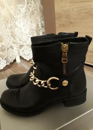 Шикарные кожаные итальянские ботиночки