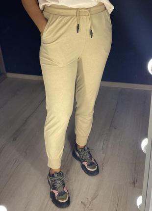 Хлопковые джоггеры, спортивки, спортивные штаны на резинке zara