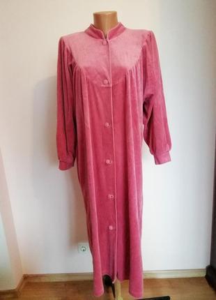 Велюровый розовый халат/44-46/brend mogena