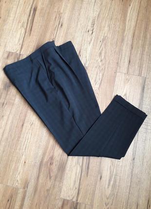 Темно-сині в клітинку завужені брюки з підворотом (dorothy perkins)