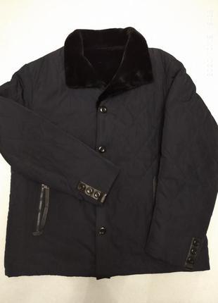 Шикарная стёганая куртка-дубленка 62-64 размера