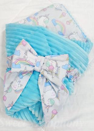 Плед конверт одеяло с бантом 🎀