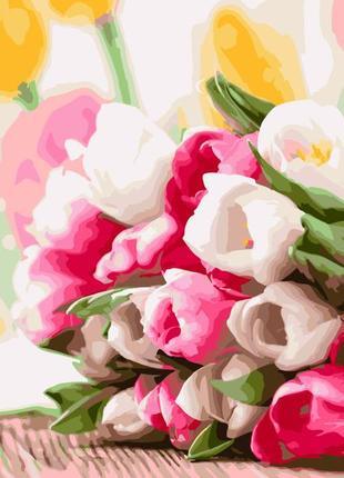 """Картина по номерах """"букет тюльпанів"""""""