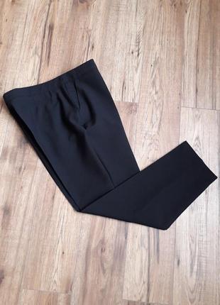 Чорні фірмові завужені класичні брюки 7/8 (atmosphere)