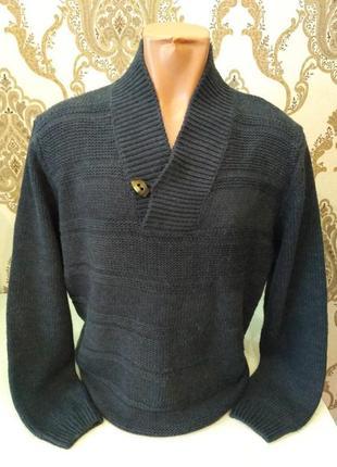 Jean pascale мужской серый пуловер