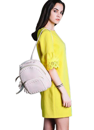 Желтое платье с кружевными рукавами! новое 1