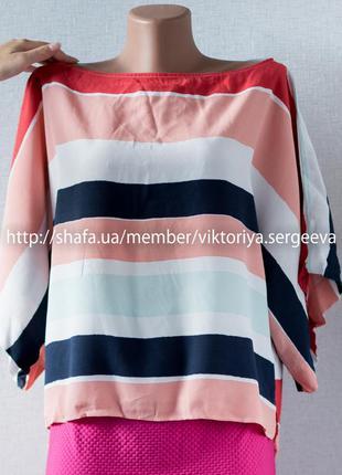 Sale - 1+1=3! стильная полосатая блуза оверсайз от zara  с необычной спинкой