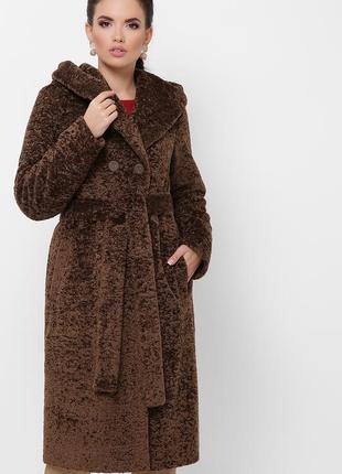 Зимняя шуба с капюшоном *шерсть* отличное качество