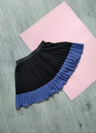 Плиссированная мини юбка юбка h&m / юбка плисе / спідниця плісе