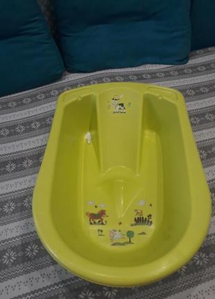Детская ванночка с горкой и клапаном для спуска воды!