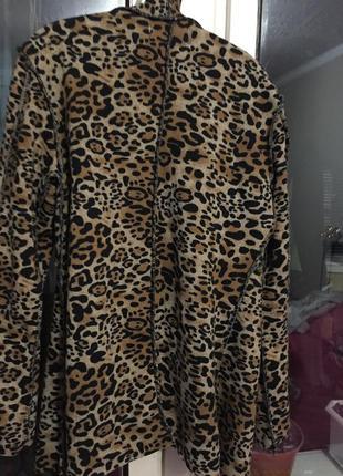 Кардиган кофта в леопардовый принт