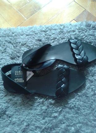 Zara босоножки, сандали, кожаные