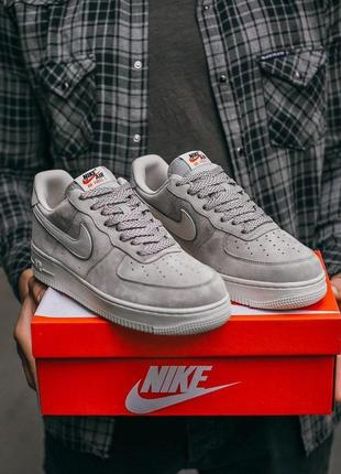 Nike air force lou luxury suede мужские серые